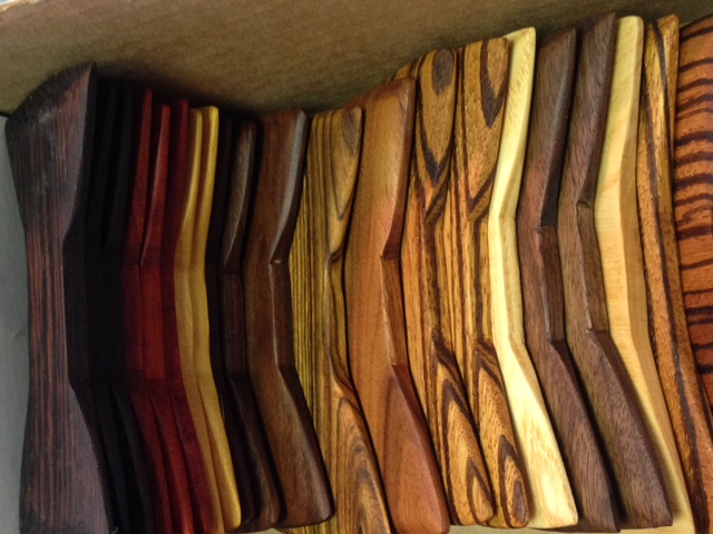 Look at the different varieties of wood we are using.